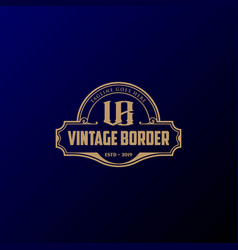 retro vintage borders and signs for badges labels vector image