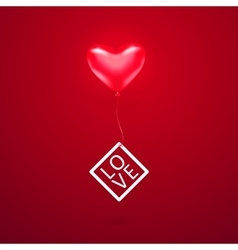 romantic element with red vector image