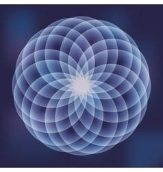 Sacred geometry icon White Shape design vector