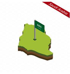 Saudi arabia isometric map and flag vector