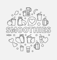 Smoothies concept round symbol vector