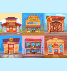 Snackbar eatery and restaurant public place poster vector