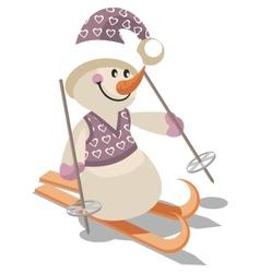 Snowman color 15 vector