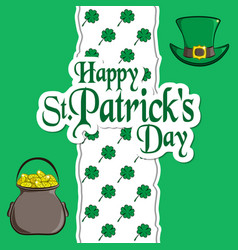 St patrick s day holiday card greeting vector