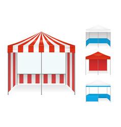 Tent examples realistic set vector