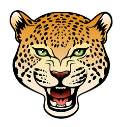 Tribal leopard color vector image