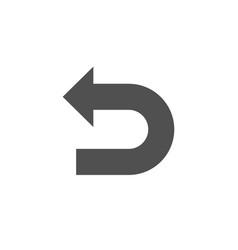 undo arrow simple icon left turn vector image