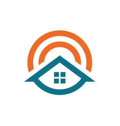 unique home symbol vector image