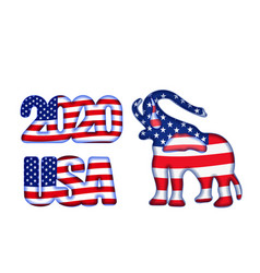 Us presidential election until 2020 symbol vector