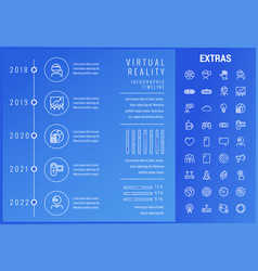 Virtual reality infographic template and elements vector
