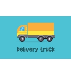 Yellow delivery truck vector