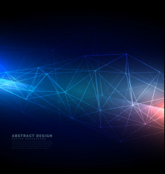abstract technology wireframe mesh in digital vector image vector image