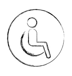 disable person silhouette icon vector image