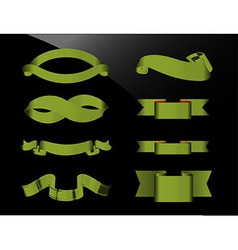 Green Ribbons vector image
