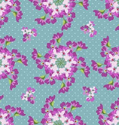 Seamless floral patter with floral circles vector image