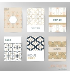 Set of stylish multipurpose cards Can be vector image vector image