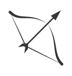 symbol love bow arrow icon vector image