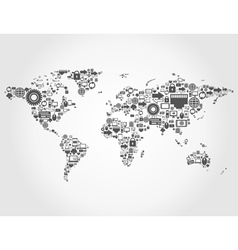 Computer map vector image