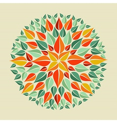 Leaves yoga mandala vector