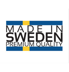 made in sweden icon premium quality sticker with vector image vector image