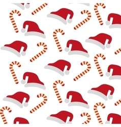 Merry christmas sweet cane decoration vector