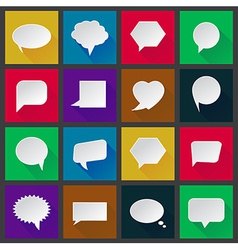 White paper speech icons vector image