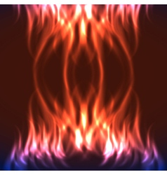 Abstract fire flames on a black background vector image vector image
