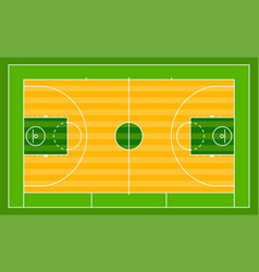 basketball field ground line playground vector image