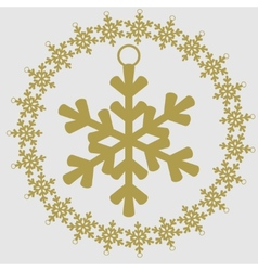 Christmas and New Year icon Snowflake vector image vector image