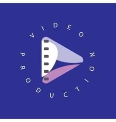 logo abstract play button vector image vector image