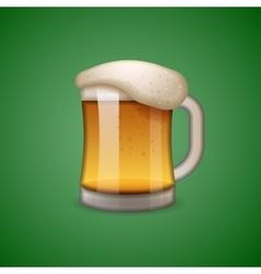 Mug of beer icon emoticon emoji vector image