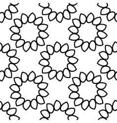 Seamless background Floral ornament vector image