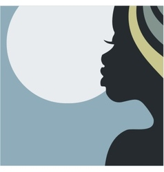 African night beauty vector