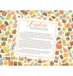 background of gift boxes vector image