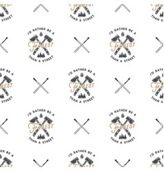 forest camping pattern vector image