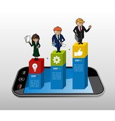 Smart phone app business infographics vector image vector image