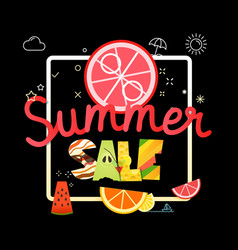 summer sale season sale concept vector image