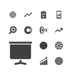 13 marketing icons vector