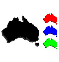 3d map of australia vector image