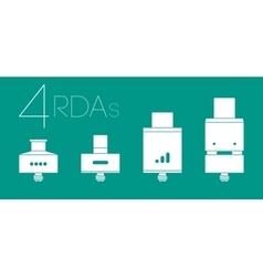 4 RDAs set vector