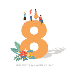 8th march international women s day greeting card vector image