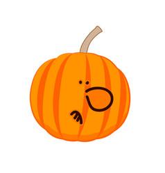 a little disgruntled pumpkin vector image