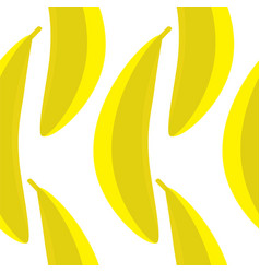 a yellow banana seamless pattern vector image