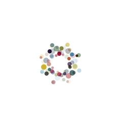 Abstract circle logotype set unusual dotted round vector