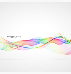 Abstract swirl colorful wave background vector