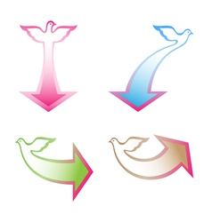 arrows with dove vector image