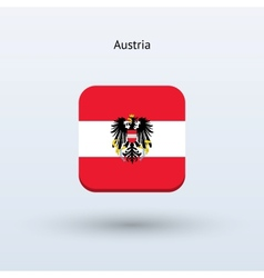 Austria flag icon vector