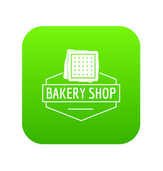 bakery product icon green vector image