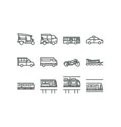 bangkok public transportation 001 vector image