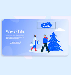 banner couple shopping on vector image